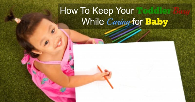 How to Keep a Toddler Busy While Putting Baby To Sleep