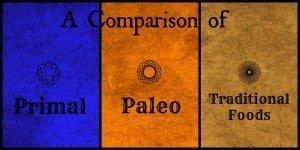 A Comparison of Primal, Paleo and Traditional Foods