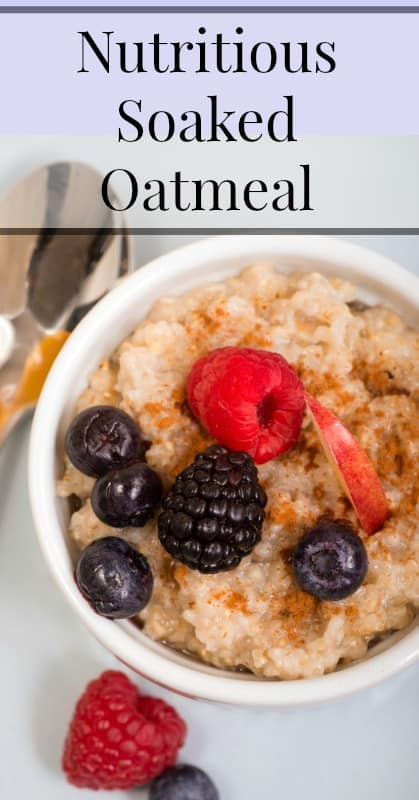 nutritious soaked oatmeal pin