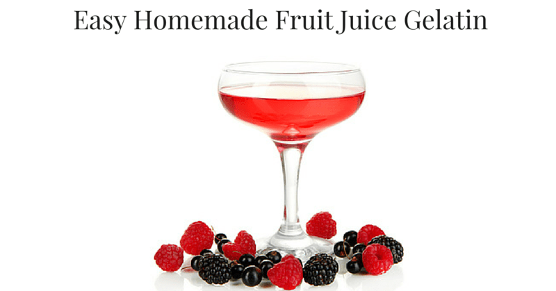 Homemade Fruit Juice Gelatin