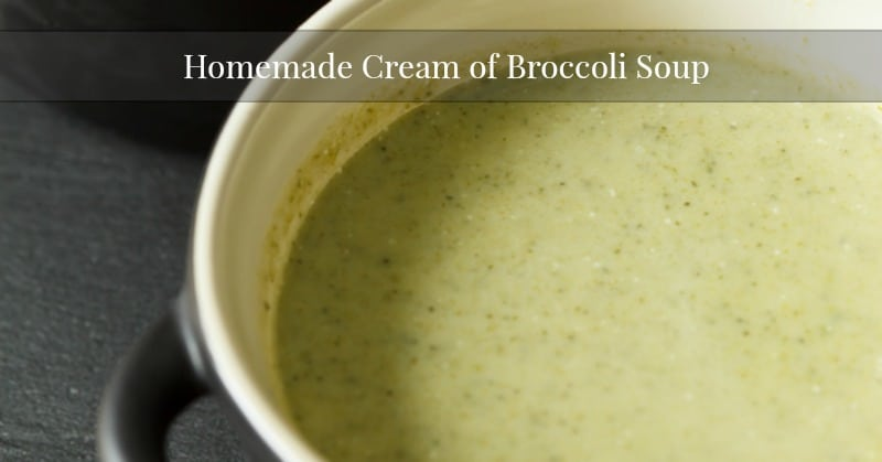 Cream Of Broccoli Soup Recipe Food Network