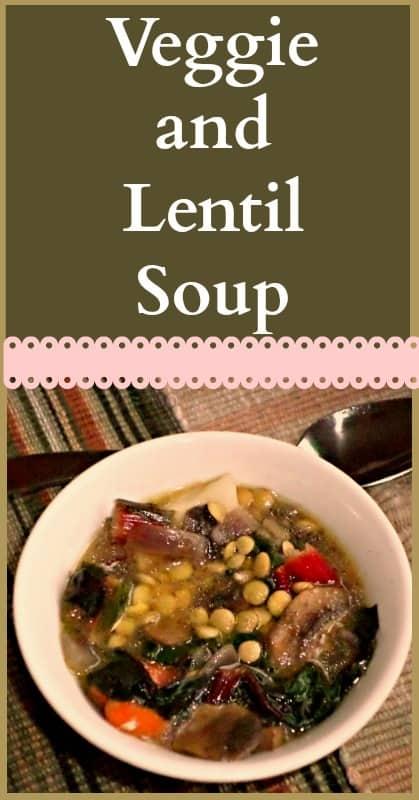 veggie and lentil soup 2