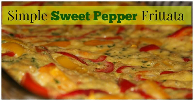 Simple Sweet Pepper Frittata