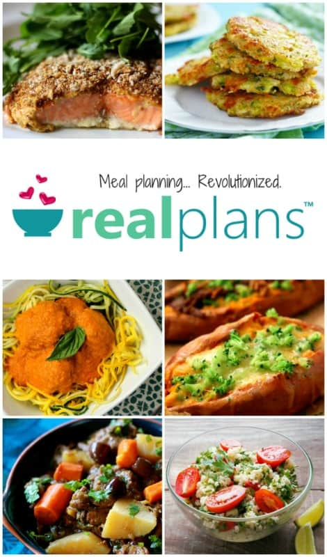 Real Food and Paleo Meal Plans pin