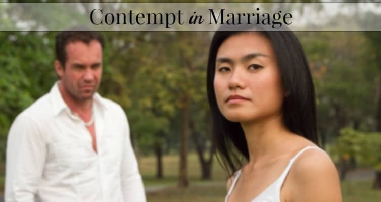 Contempt in Marriage