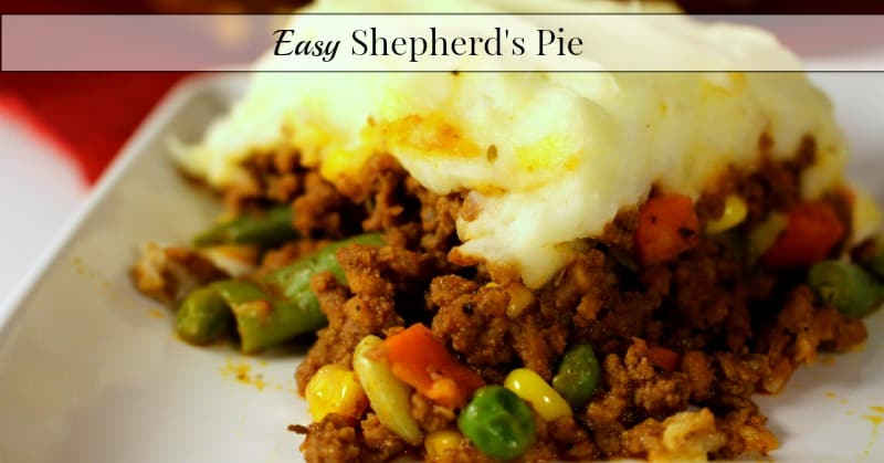 Easy recipes shepherd s pie