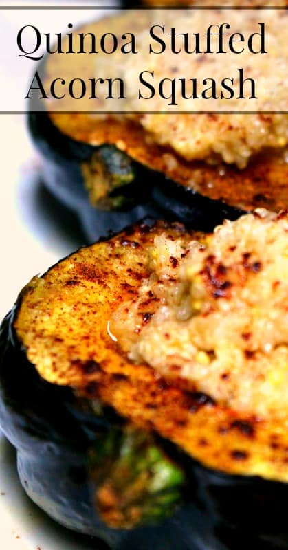 Quinoa Stuffed Roasted Acorn Squash
