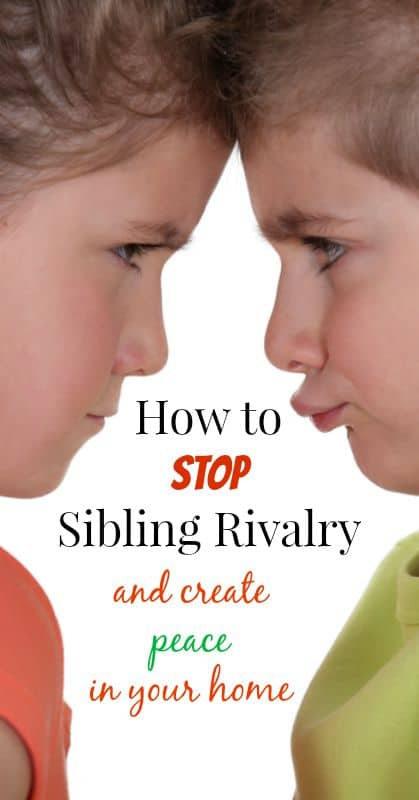 How to Stop Siblings from Fighting