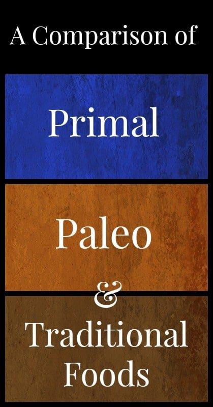 A Comparison of Primal Paleo Traditional Foods