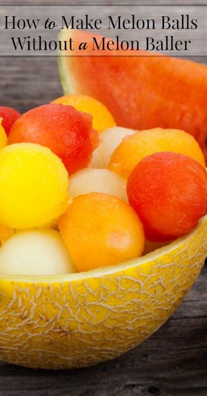 How to Make Melon balls Without a Melon Baller