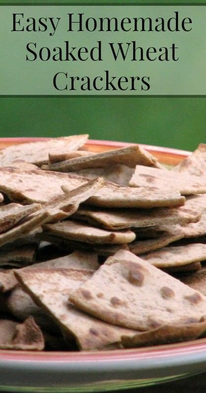 Homemade Soaked Wheat Crackers