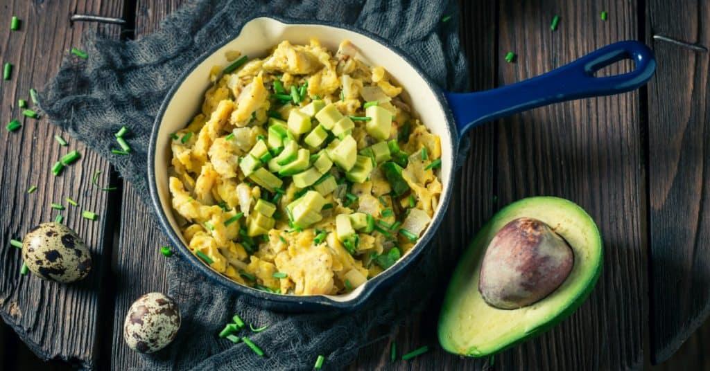 Paleo Breakfast Recipe Eggs and Avocado