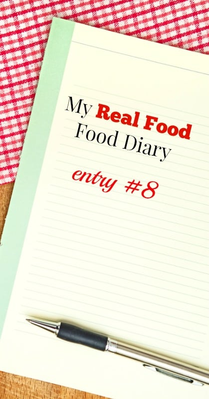 Real Food Diary 8 pin