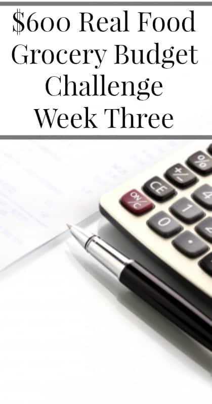 $600 Real Food Grocery Budget Challenge Week Three