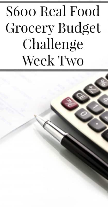 $600 Real Food Grocery Budget Challenge Week Two