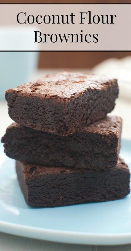 coconut flour brownies pin