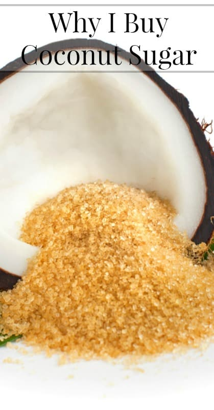 Why I Buy Coconut Sugar