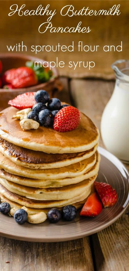 Pancakes Made with Sprouted Flour