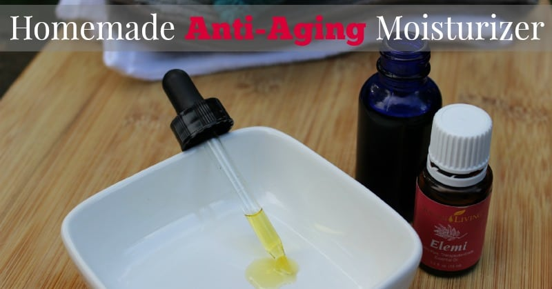 Easy-to-make homemade anti-aging moisturizer.  Simple and natural.