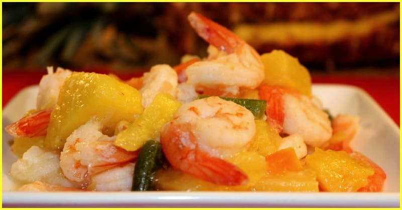 pineapple shrimp stir fry