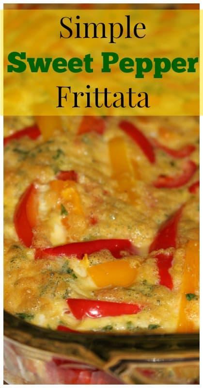 Sweet Pepper Frittata