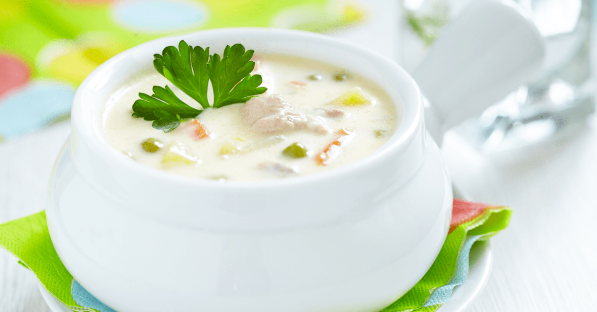 Gluten Free Creamy Chicken and Vegetable Soup