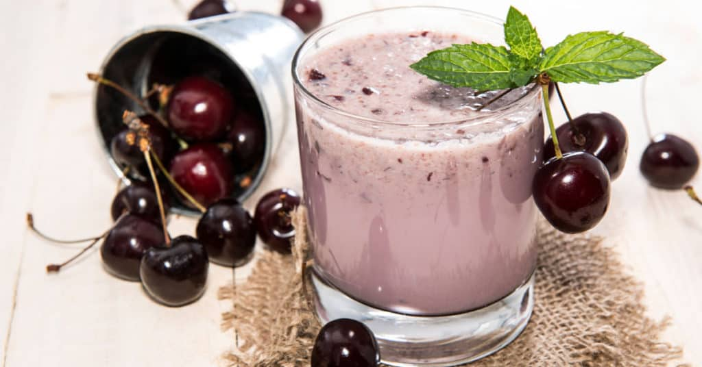 Healthy Smoothie Recipe with Cherries