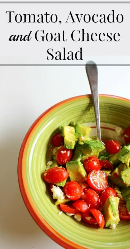 tomato avocado and goat cheese salad