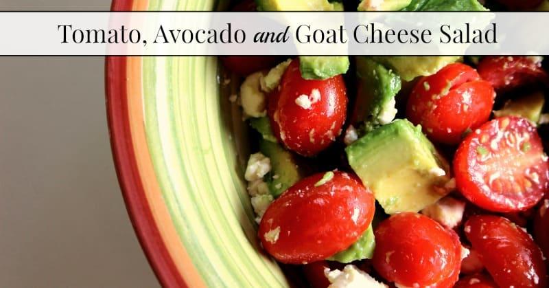 tomato avocado and goat cheese