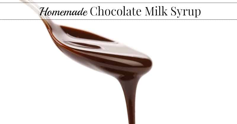 Easy Homemade Chocolate Milk Syrup