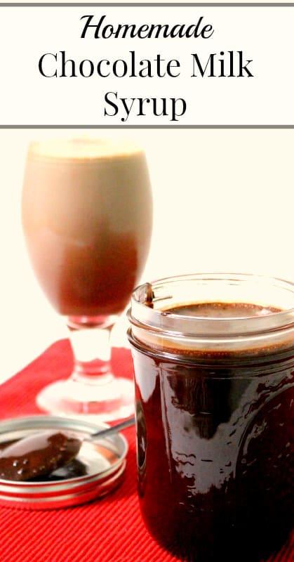 Homemade Chocolate Milk Syrup
