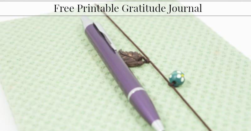 Free Printable Gratitude Journal 1
