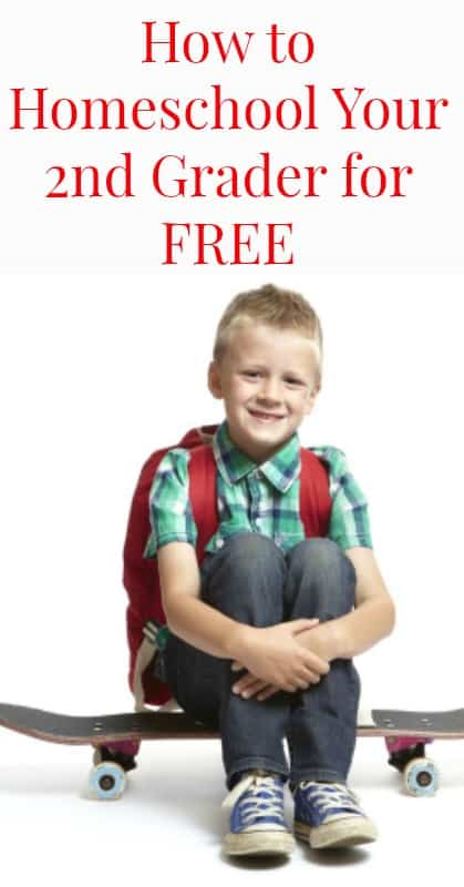 How to Homeschool Your Second Grader for Free pin
