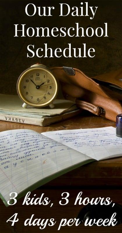 Daily Homeschool Schedule