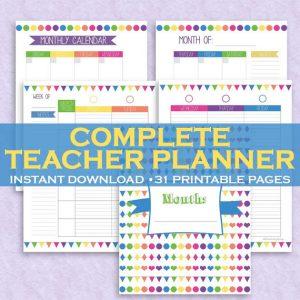 Homeschool Teacher Planner