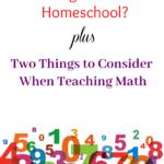 Should I Use New Math in My Homeschool