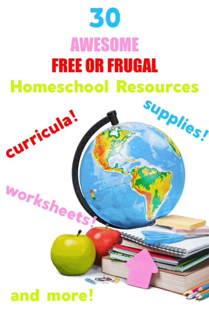 Frugal or Free Homeschool Curriculum and Supplies