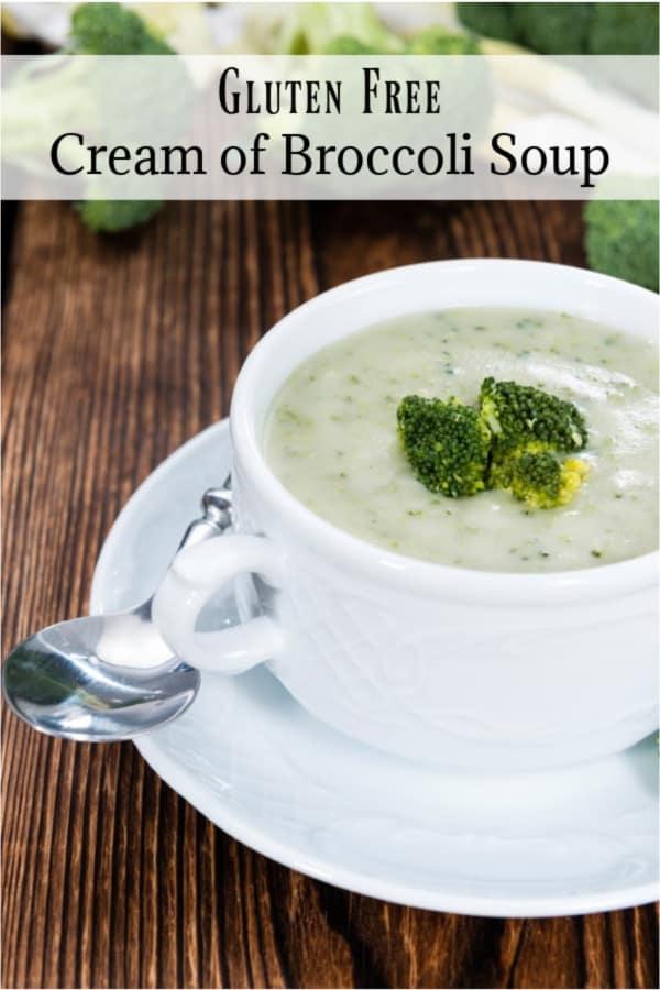 Delicious Gluten Free Cream of Broccoli Soup