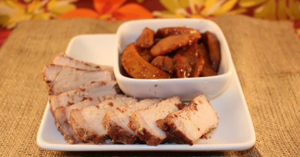 Pork Chops and Fried Apples a Paleo Recipe