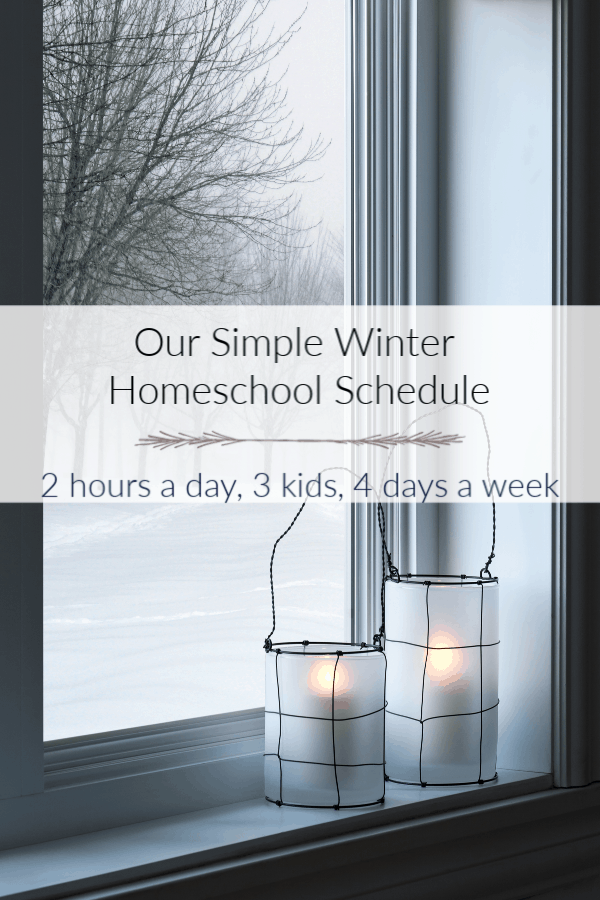 Winter Homeschool Routine Example