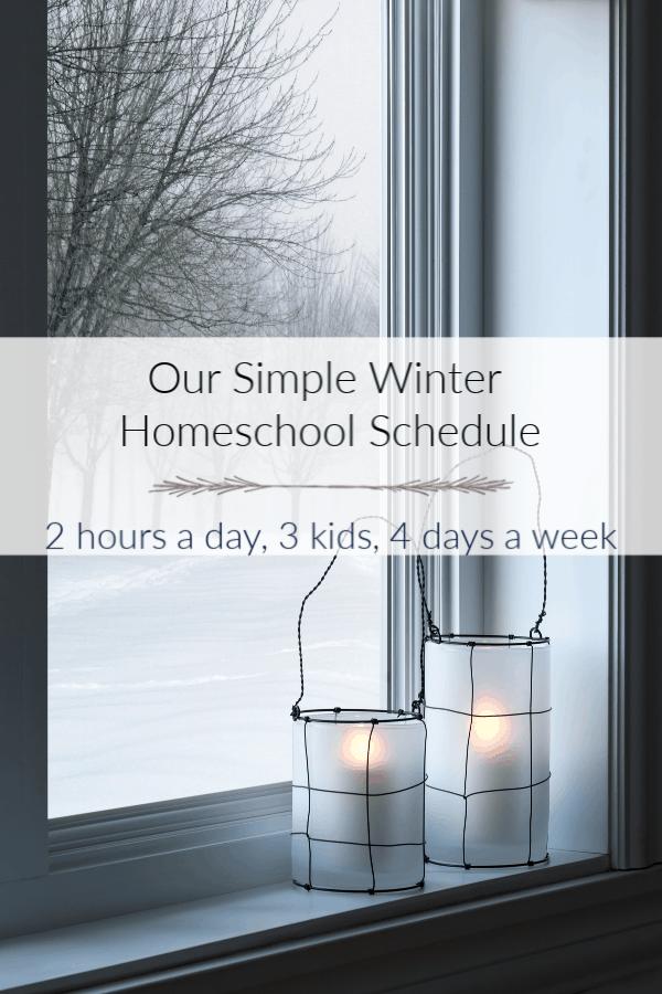 Winter Homeschool Routine Example