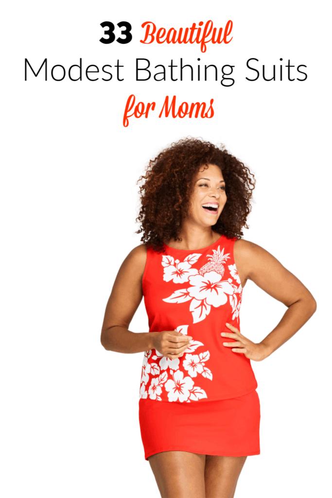 Modest Swimwear for Moms Pinterest