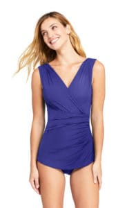 Purple Modest One Piece Bathing Suit for Women