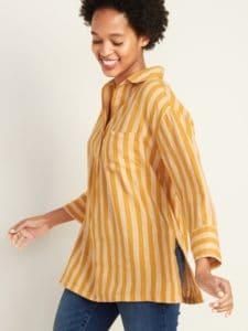 Linen Blend Tunic