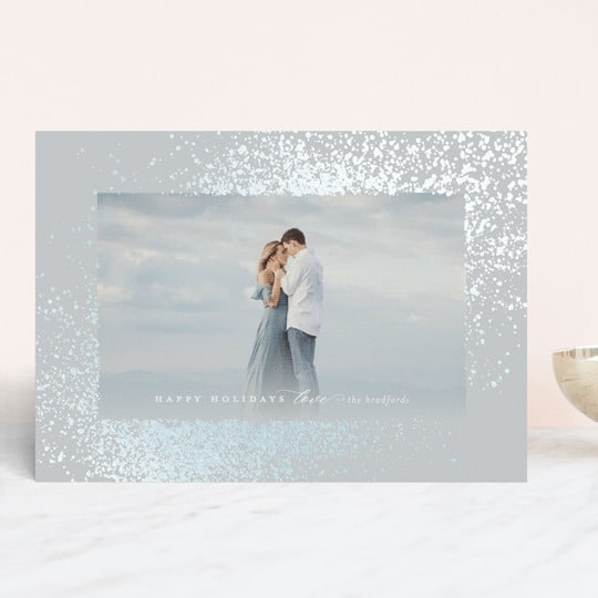 Glowing Snow Holiday Card from Minted