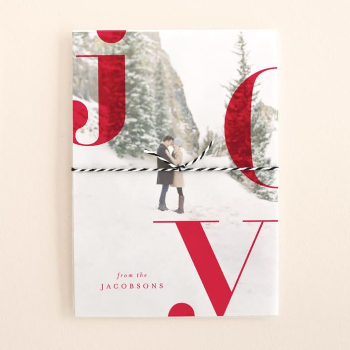 Vellum Photo Christmas Card