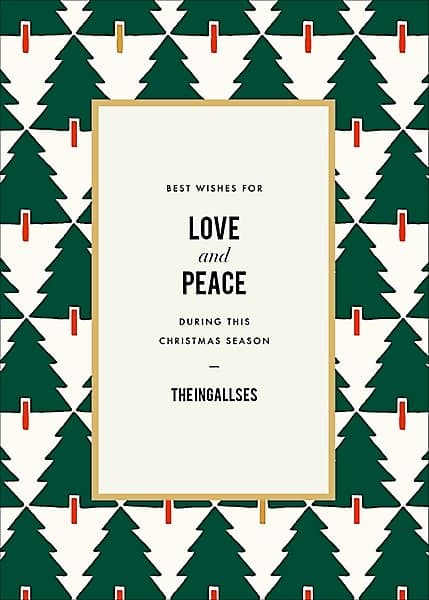 Simple Personalized Christmas Card