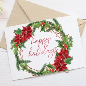 Printable Holiday Card - Happy Holidays