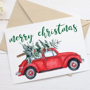 Printable Christmas Card - Merry Christmas