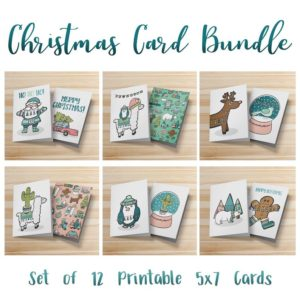 Printable Christmas Card Bundle